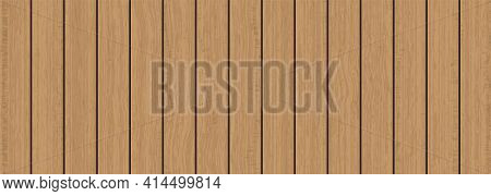 Natural Brown Wooden Plank Texture Abstract Background Vector Illustration