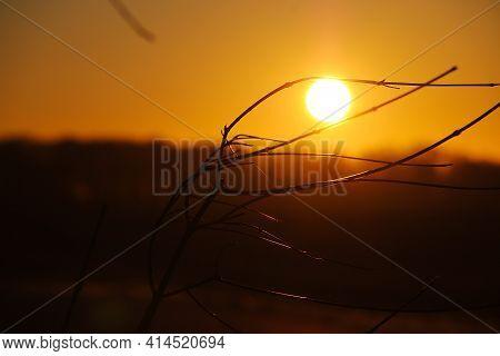 Romantic Beautiful Sunrise With A Beautiful Landscape