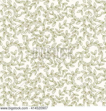 Abstract Fashion Design Of Seamless Background. Vector Organic Print Pattern. Repeating Graphic Desi