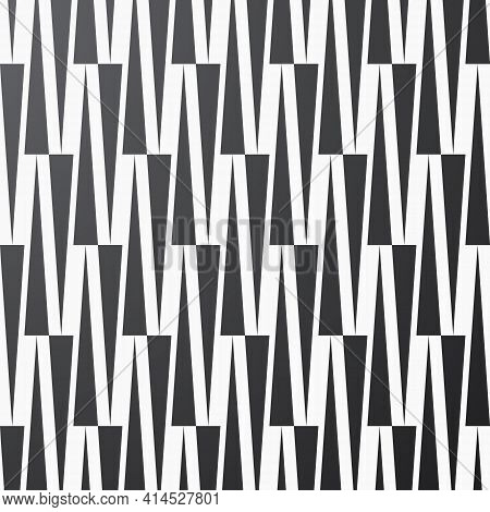 Geometric Vector Pattern, Repeating Up And Down Bold Thin Triangles. Pattern Is Clean For Printing,