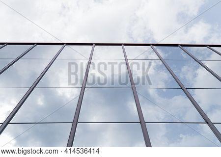 Modern Glass Facade Of An Office Building