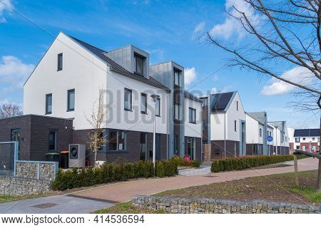 Newly Built Residential Area In The Netherlands