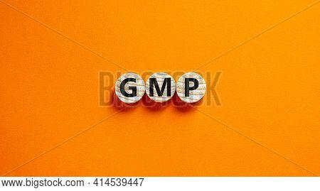Gmp, Good Manufacturing Practice Symbol. Concept Words Gmp, Good Manufacturing Practice On Circles O