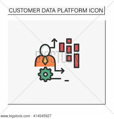 Behavioral Date Color Icon.observation Insights Into The Behavior Of Consumers On Platforms, Online