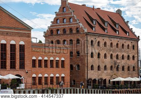 Gdansk, Poland - Sept 9, 2020: Polish Baltic F. Chopin Philharmonic In Gdańsk Is A Concert Hall Loca