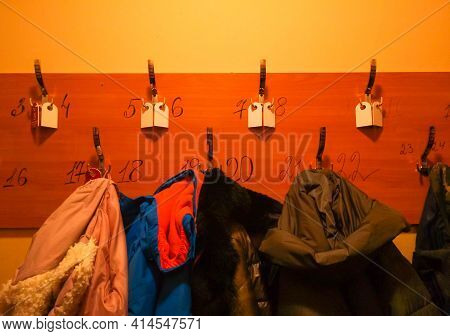 Wooden Hanger With Hooks And Numbers For Clothes