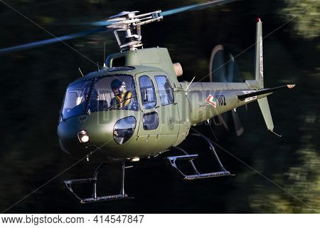Szolnok, Hungary - August 20, 2019: Hungarian Air Force Airbus Helicopters Eurocopter As350 H125m Ec