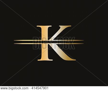 Elegant And Stylish K Logo Design For Your Company. K Letter Logo. K Logo For Luxury Branding.