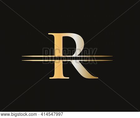 Initial R Letter Business Logo Design Vector Template With Minimal And Modern Trendy. R Logo Design
