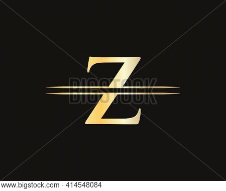 Creative Z Letter With Luxury Concept. Modern Z Logo Design For Business And Company Identity. Z Log