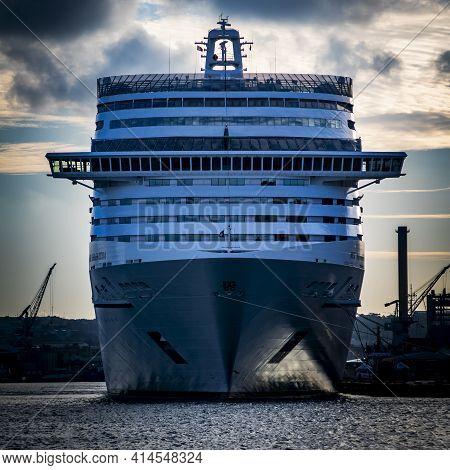 Valletta, Malta - November 23, 2016: Msc Cruises Owned Msc Splendida Luxury Cruise Ship At Malta Har