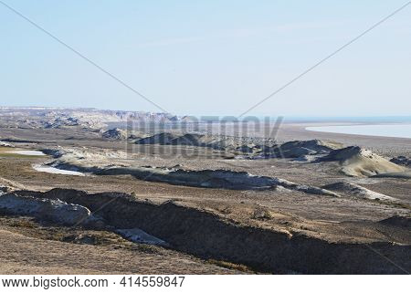 Environment Disaster Shrinking Dried Out Aral Sea In Uzbekistan