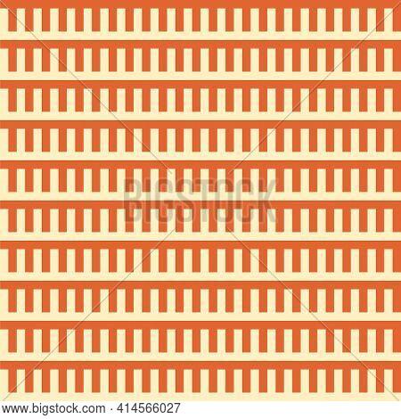 Simple Geometric Interlocking Combs Repeat Vector Pattern