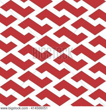Simple Geometric Interlocking Z Shapes Repeat Vector Pattern