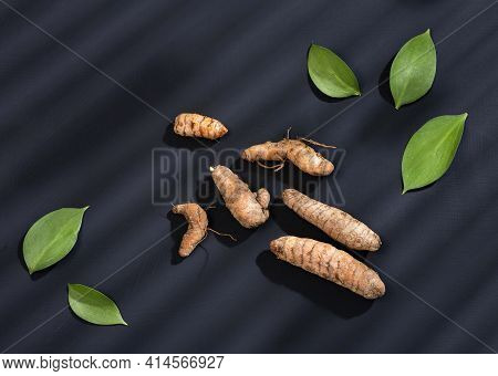 Organic Turmeric Roots - Curcuma Longa. Healthy Food