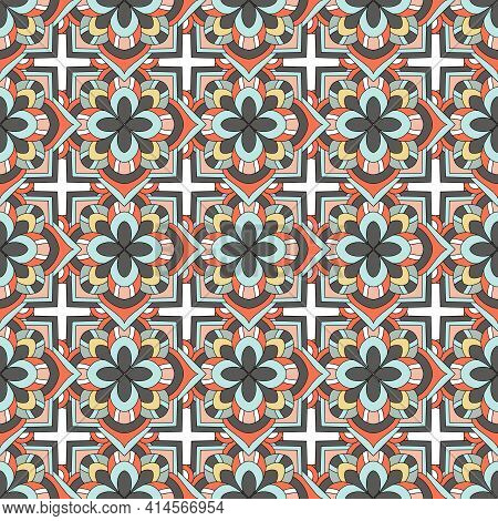 Culture Beauty Pattern. Outline Hand Drawn Illustration Of Culture Beauty Vector Pattern For Web Des