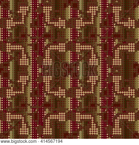 Half Tone Seamless Pattern. Textured Modern Vector Background. Repeat Halftone Backdrop. Abstract Di