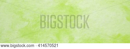 Green Watercolour Background, Watercolour Painting Soft Textured On Wet White Paper Background, Abst