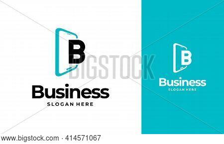 B-initial Phone Logo Designs, Phone Shop Logo Designs, Modern Phone Logo Designs Vector Icon