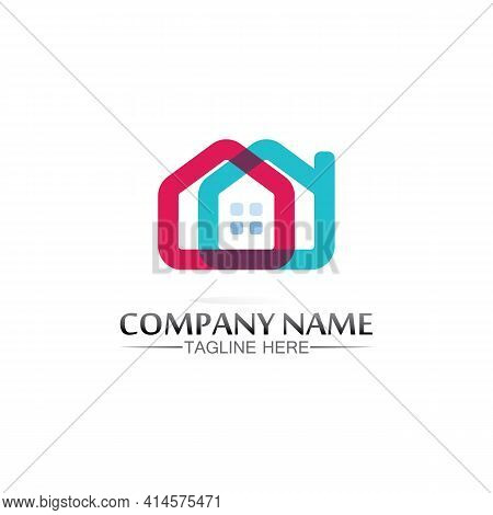 Building Home Logo, House Logo, Architecture, Icon, Residence And City, Town, Design And Window, Est