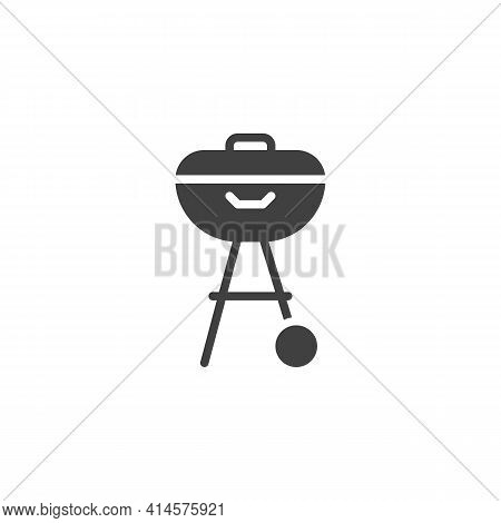 Bbq Grill Vector Icon. Filled Flat Sign For Mobile Concept And Web Design. Barbeque Grill Glyph Icon