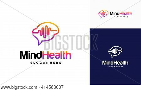 Mind Health Logo Designs Concept, Head Health Logo Template Vector, Intelligence Logo Designs