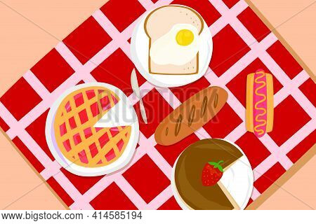 A Colorful Picnic Background Theme Is The Perfect Way To Cheer Up Those Gray Days. This Background T