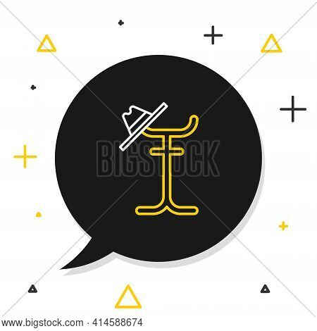 Line Coat Stand Icon Isolated On White Background. Colorful Outline Concept. Vector