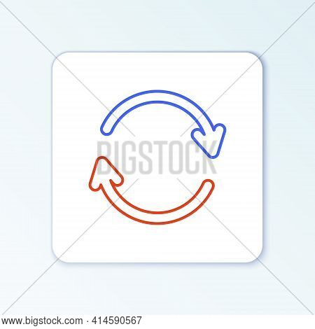 Line Refresh Icon Isolated On White Background. Reload Symbol. Rotation Arrows In A Circle Sign. Col