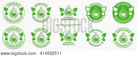 Conceptual Marks For Product Packaging. Labeling - Organic Ingredients. The Brand With The Flask, Wi
