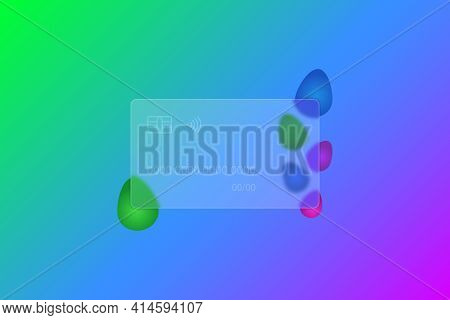 Happy Easter. Transparent Credit Card. Frosted Glass. Colored Vector Illustration. Glassmorphism Sty