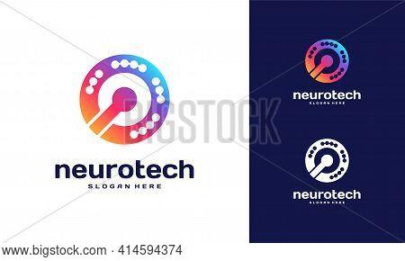 Modern Abstract Circle Technology Logo Template, Wire Tech Logo Designs Vector, Logo Symbol Icon