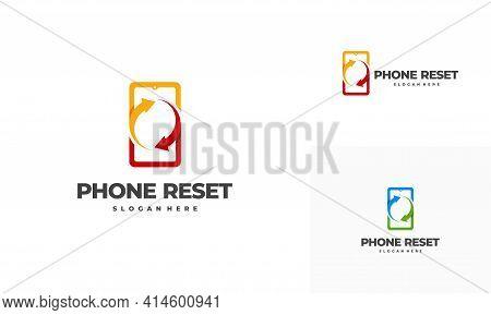 Phone Restore Logo Designs Concept Vector, Phone Service Logo Template Icon