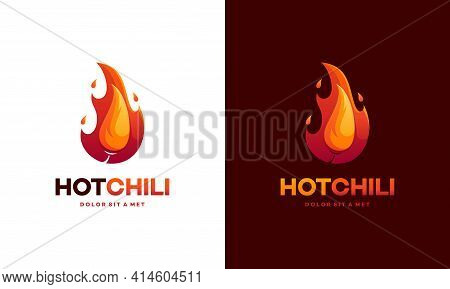 Modern Red Hot Chili Logo Designs Concept Vector, Spicy Pepper Logo Designs Template