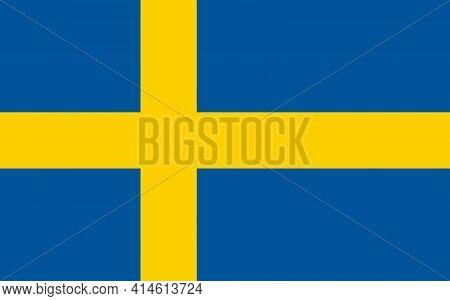 Sweden National Flag, Sweden National Official Flag.