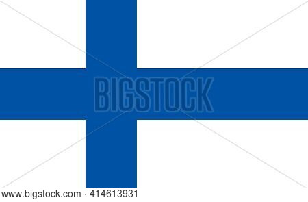 Finland National Flag, Finnish National Official Flag.