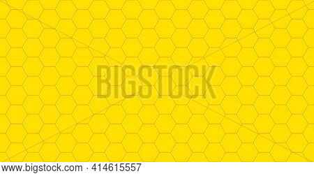 Honey Comb. Honeycomb Pattern. Yellow Background For Bee. Honey Comb Texture For Beehive. Wallpaper