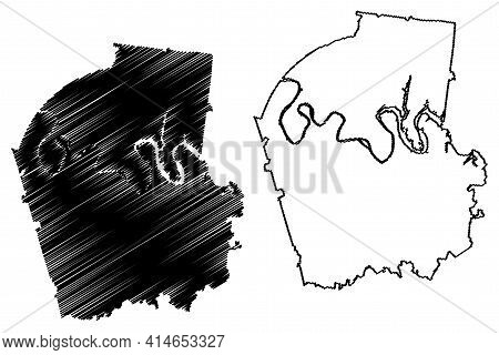 Smith County, State Of Tennessee (u.s. County, United States Of America, Usa, U.s., Us) Map Vector I