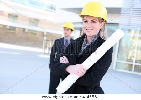 Business Construction Woman