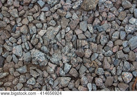 Gravel Close-up, Gravel Background, Copy Space, Place For Text