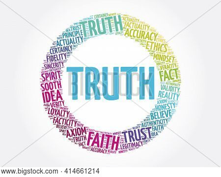 Truth - Word Cloud Collage, Concept Background