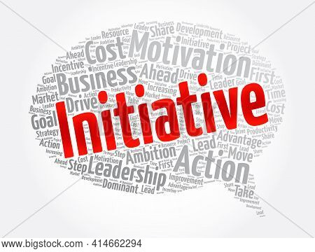 Initiative - Word Cloud Collage, Concept Background