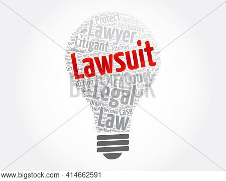 Lawsuit Word Cloud Collage, Law Concept Background