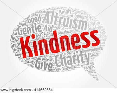Kindness Message Bubble Word Cloud Collage, Concept Background