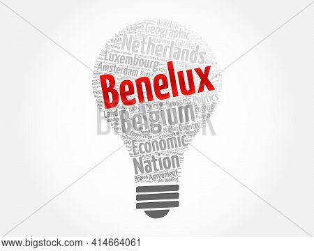 Benelux Word Cloud Collage, Business Concept Background
