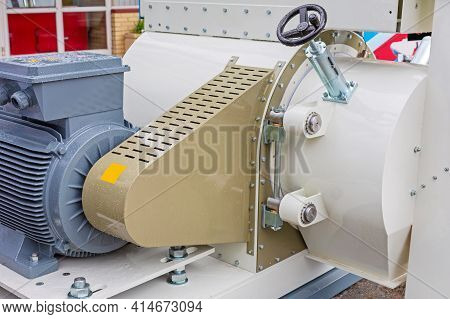 Big Electric Motor At Feed Machine Industry Production