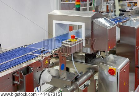 Food Production Line Metal Detector Conveyor Belt