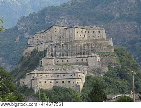 Fort Bard Fortified Complex In Aosta Valley In Bard, Italy
