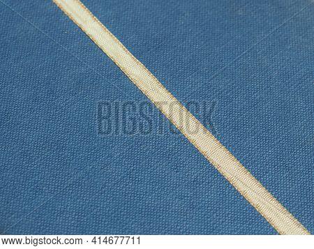 Ribbon Of White Over Light Blue Background
