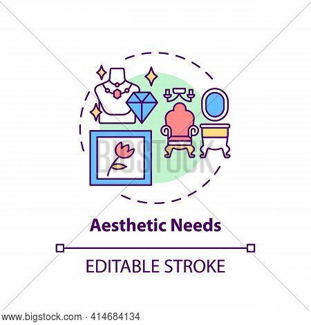Aesthetic Needs Concept Icon. Appreciation For Beauty. Desire For Balance And Harmony. Self Developm